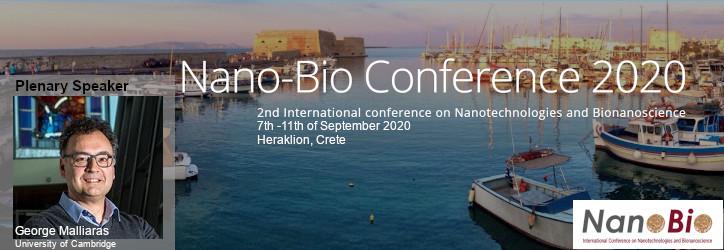 Prof. George Malliaras as Plenary Speaker at Nano-Bio Conference 2020